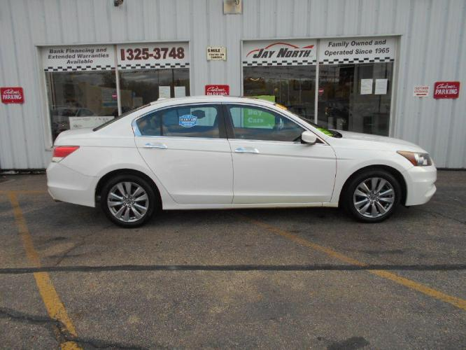2011 WHITE HONDA ACCORD EXL (1HGCP3F89BA) with an 3.5L engine, Automatic transmission, located at 501 E. Columbia St., Springfield, OH, 45503, (800) 262-7122, 39.925262, -83.801796 - Photo #0