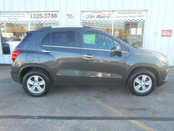 2017 GRAY CHEVROLET TRAX 1LT (3GNCJPSB9HL) with an 1.4L engine, Automatic transmission, located at 501 E. Columbia St., Springfield, OH, 45503, (800) 262-7122, 39.925262, -83.801796 - Photo #0