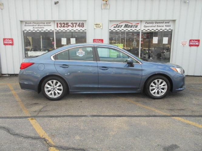 2015 BLUE SUBARU LEGACY 2.5I PREMIUM (4S3BNAC62F3) with an 2.5L engine, Continuously Variable transmission, located at 501 E. Columbia St., Springfield, OH, 45503, (800) 262-7122, 39.925262, -83.801796 - Photo #0