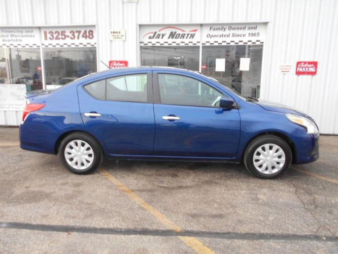 2019 BLUE NISSAN VERSA SV (3N1CN7AP8KL) with an 1.6L engine, Continuously Variable transmission, located at 501 E. Columbia St., Springfield, OH, 45503, (800) 262-7122, 39.925262, -83.801796 - Photo #0
