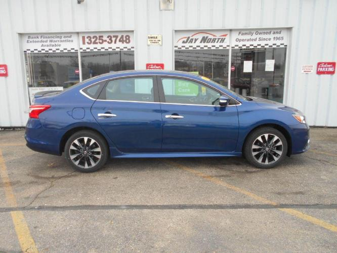 2019 BLUE NISSAN SENTRA SR (3N1AB7AP4KY) with an 1.8L engine, Continuously Variable transmission, located at 501 E. Columbia St., Springfield, OH, 45503, (800) 262-7122, 39.925262, -83.801796 - Photo #0