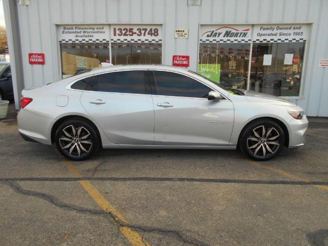 2016 SILVER CHEVROLET MALIBU LT (1G1ZE5ST3GF) with an 1.5L engine, Automatic transmission, located at 501 E. Columbia St., Springfield, OH, 45503, (800) 262-7122, 39.925262, -83.801796 - Photo #0