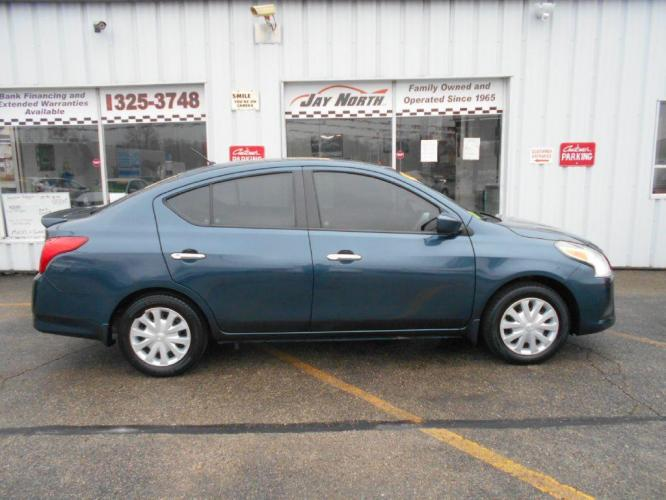 2017 BLUE NISSAN VERSA SV (3N1CN7APXHL) with an 1.6L engine, Continuously Variable transmission, located at 501 E. Columbia St., Springfield, OH, 45503, (800) 262-7122, 39.925262, -83.801796 - Photo #0