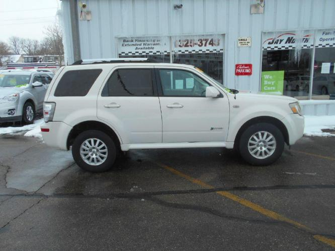 2009 WHITE MERCURY MARINER HYBRID (4M2CU293X9K) with an 2.5L engine, Continuously Variable transmission, located at 501 E. Columbia St., Springfield, OH, 45503, (800) 262-7122, 39.925262, -83.801796 - Photo #0