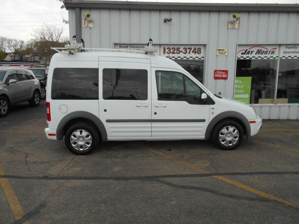2011 WHITE FORD TRANSIT CONNECT XLT PREMIUM (NM0KS9CN9BT) with an 2.0L engine, Automatic transmission, located at 501 E. Columbia St., Springfield, OH, 45503, (800) 262-7122, 39.925262, -83.801796 - Photo #0